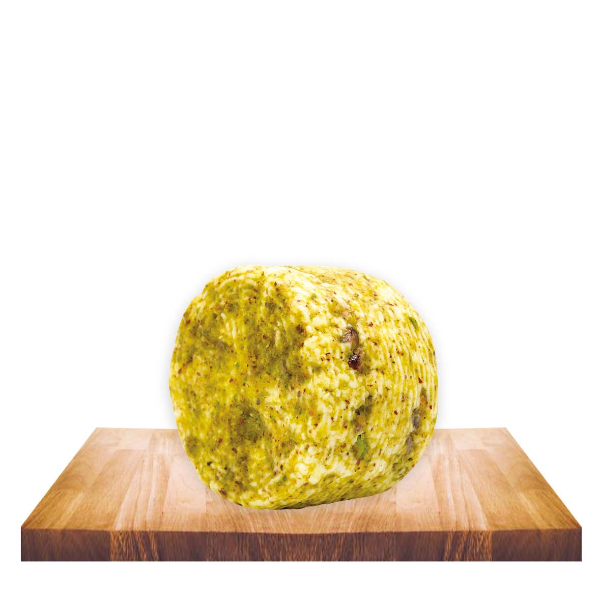 Formaggetta ovina al pistacchio gr 400 ca