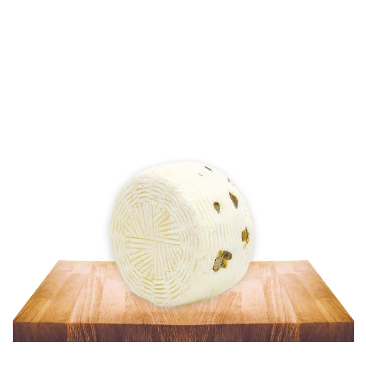 Formaggetta ovina con capperi gr 400 ca